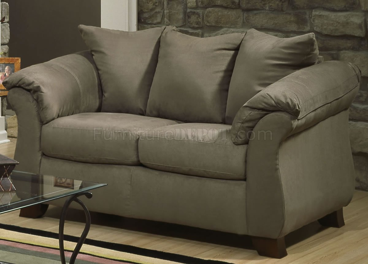 Sage Microfiber Elegant Modern Sofa Loveseat Set W Options