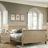 Louis Philippe Bedroom Set 204421 Metallic Champagne By Coaster New