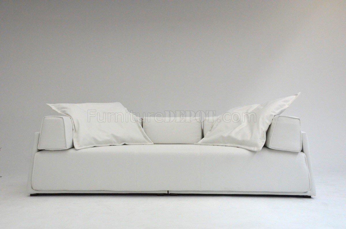 White Fabric Modern Elegant Sofa
