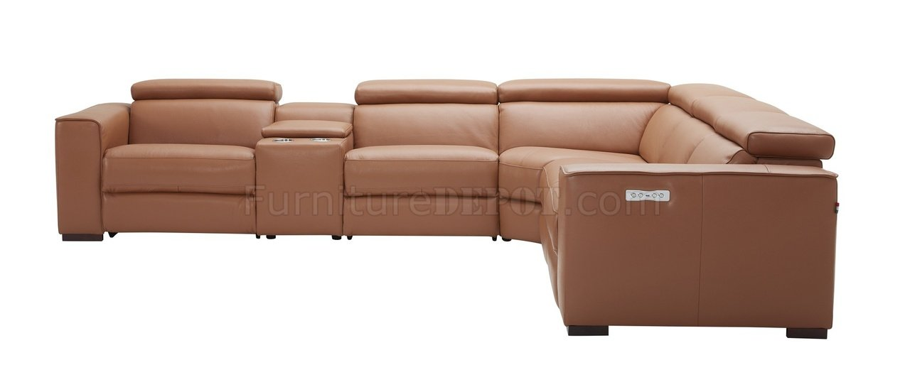 Astounding Picasso Power Motion Sectional Sofa In Caramel Leather By Jm Beatyapartments Chair Design Images Beatyapartmentscom