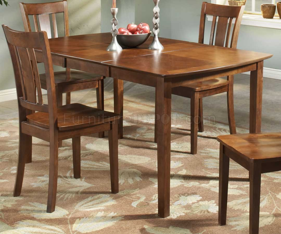 Cherry Finish Modern Dining Table W/Optional Side Chairs