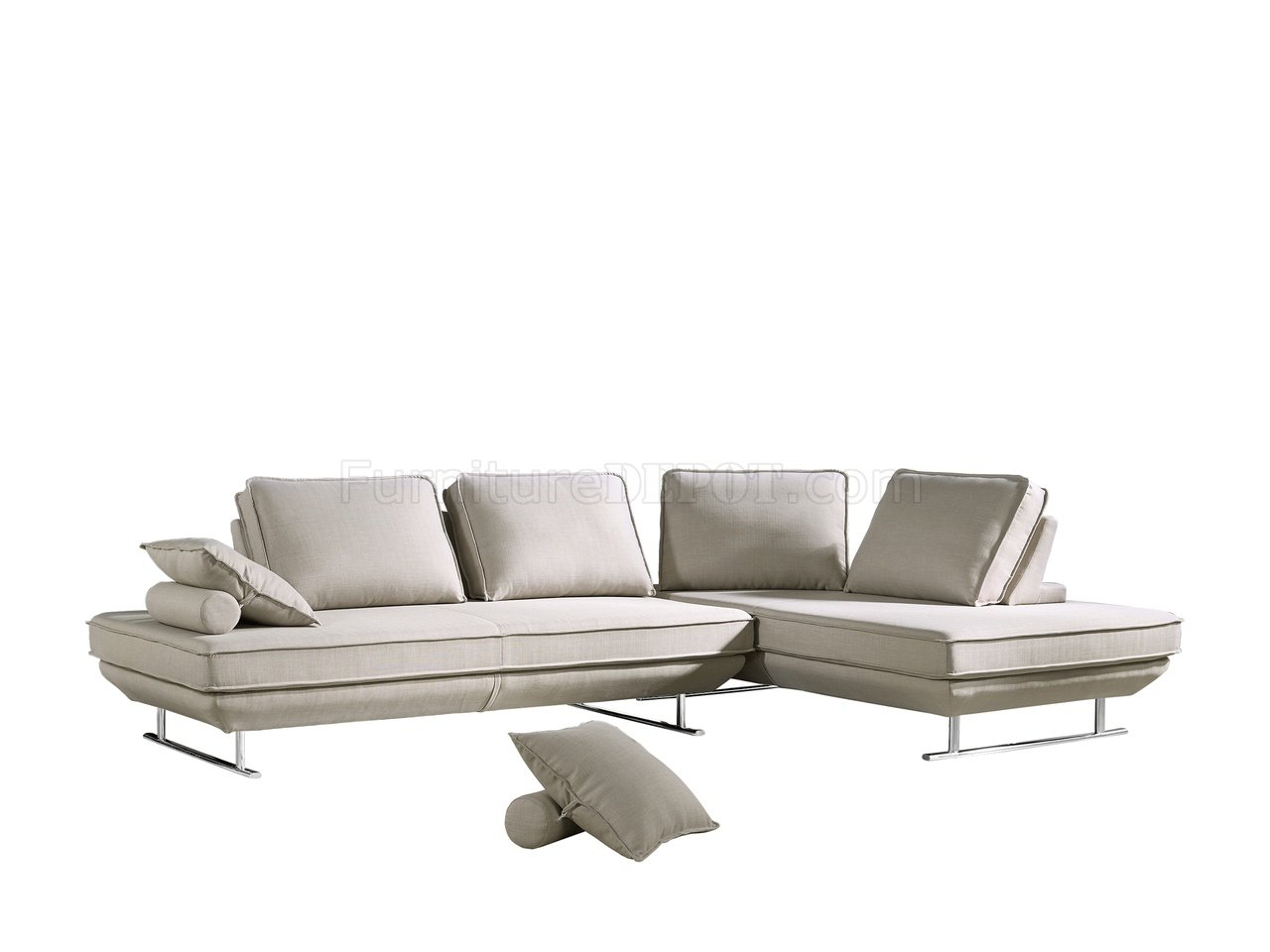 Amazing Bergamo Sectional Sofa In Beige Fabric By Esf Uwap Interior Chair Design Uwaporg