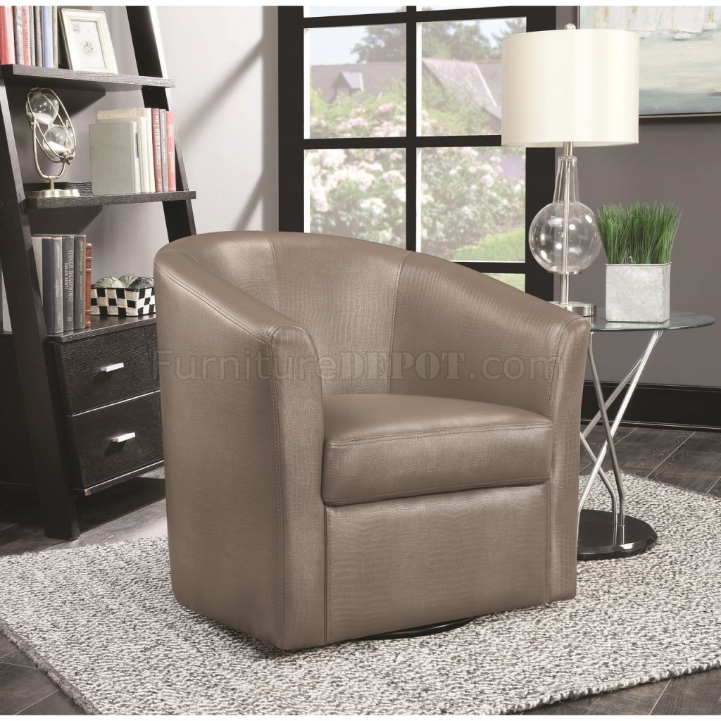 902726 Accent Chair Set Of 2 In Champagne Leatherette By