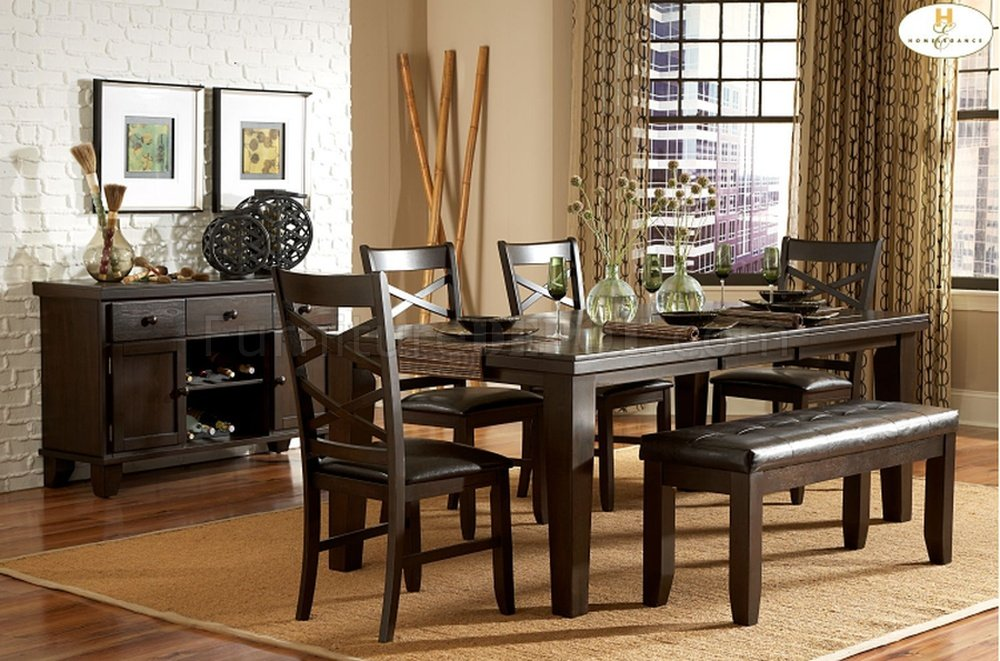 Hawn 2438 82 Dining Table By Homelegance In Espresso W Options