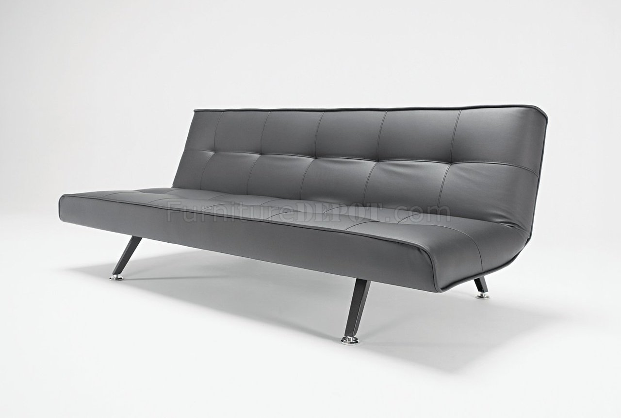 Pleasing Black Leather Modern Convertible Sofa Bed Shifter Pdpeps Interior Chair Design Pdpepsorg