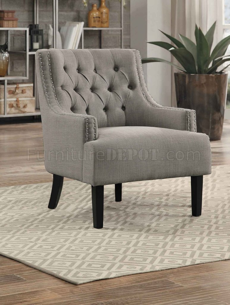 Charisma Accent Chair 1194tp In Taupe Fabric By Homelegance