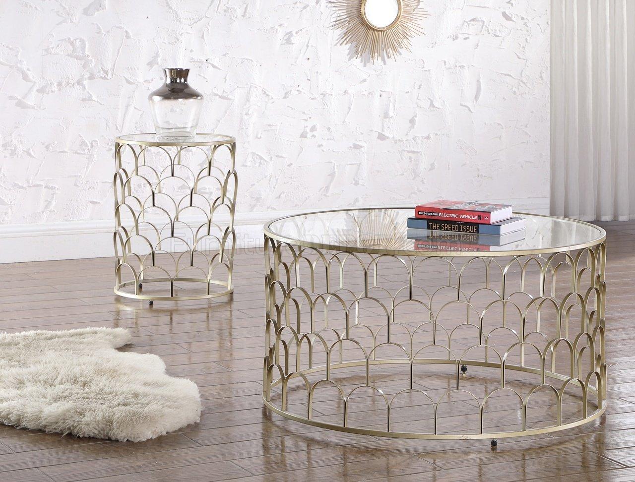 Finn Coffee Table 225 Gold Tone Steel Base By Meridian W Options