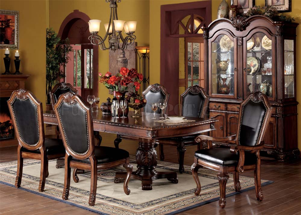 Chateau De Ville Dining Table 04075 In Cherry By Acme W Options