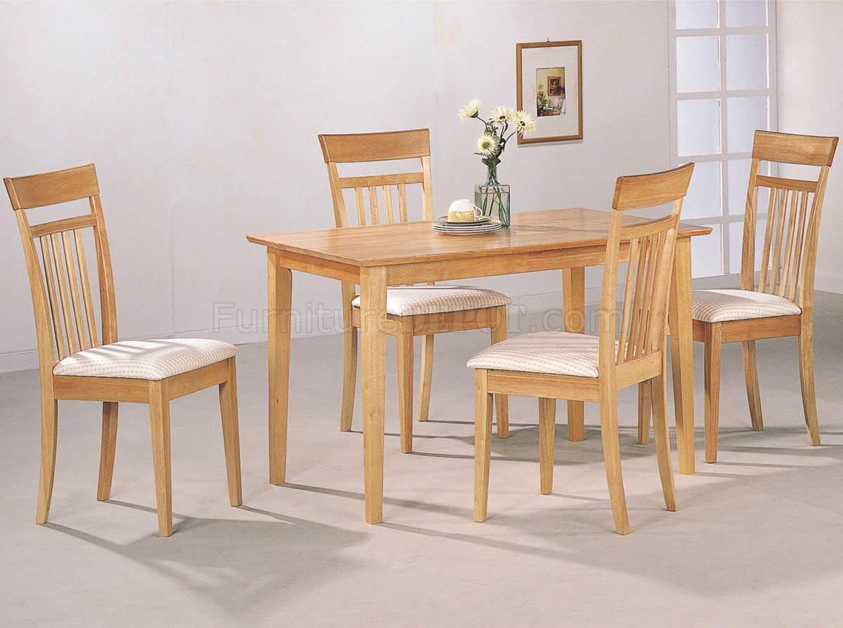 warm light maple wood finish modern 5pc casual dining set