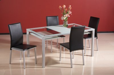 Glass Modern Dining Table W 2 Hanging Shelves Amp Optional