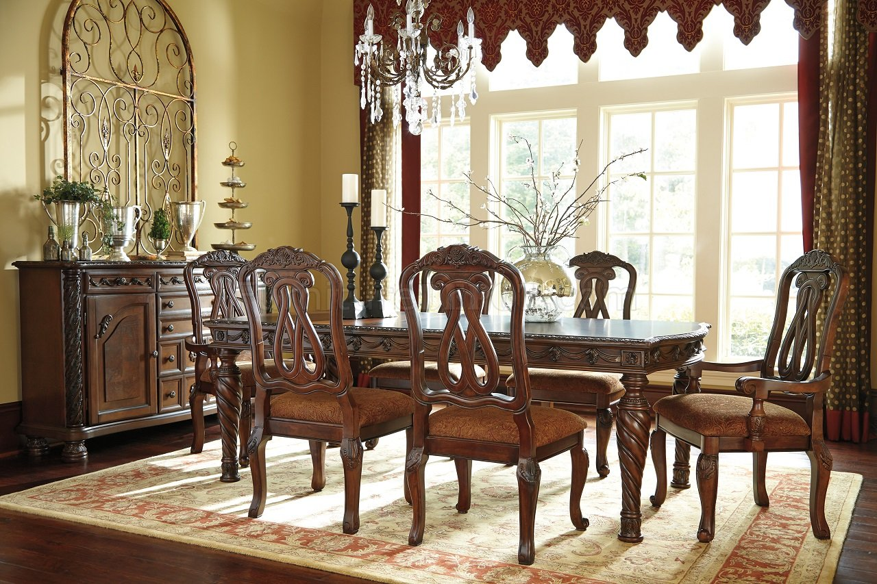 North Shore Living Room Set North Shore D553 35 Dark Brown Dining Table By Ashley Furniture