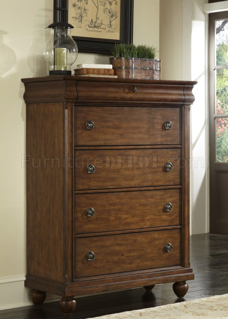 Rustic Traditions Bedroom 5pc Set 589 Br In Rustic Cherry