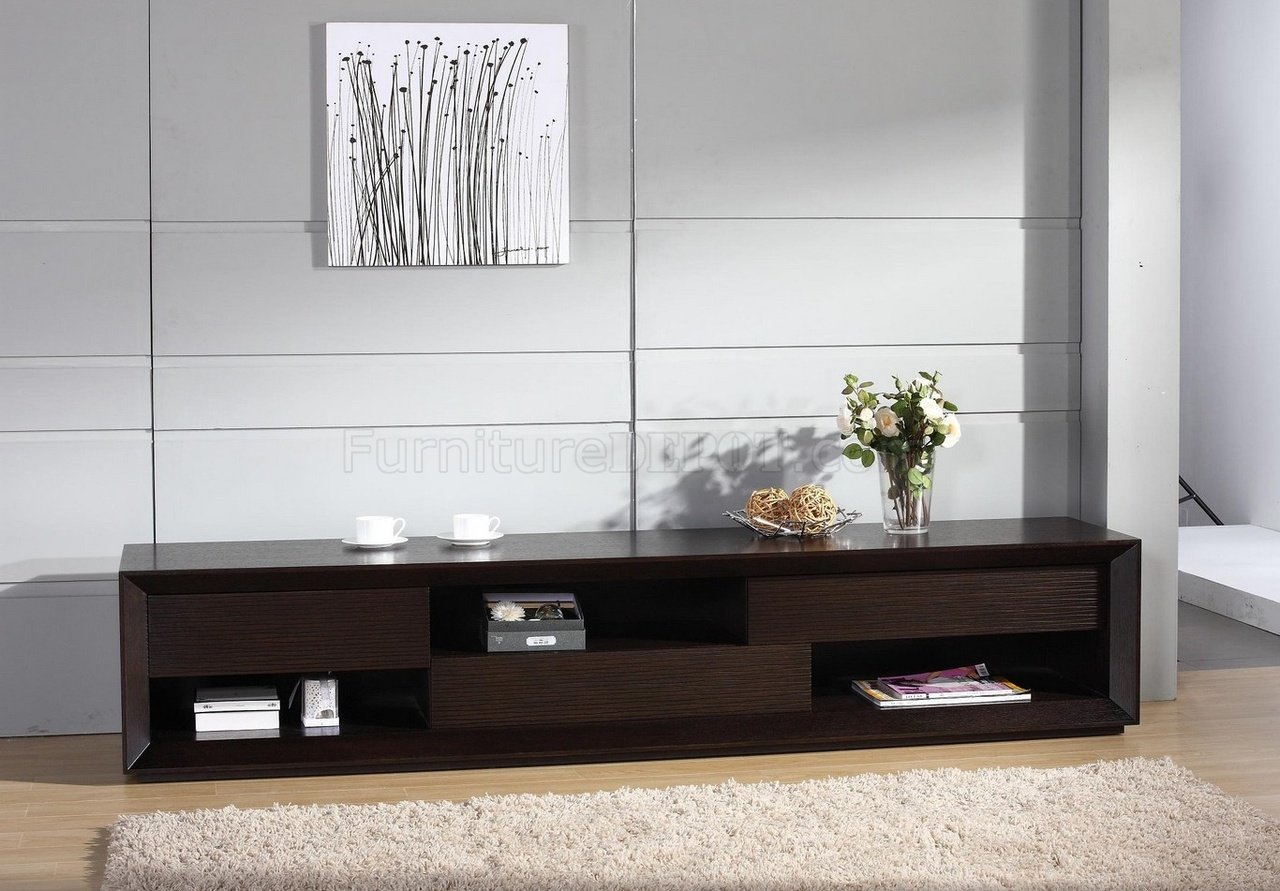 Assym TV Stand By Beverly Hills Furniture In Wenge - Modern tv stand and coffee table set