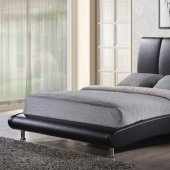 8272 Upholstered Bed in Black Leatherette by Global
