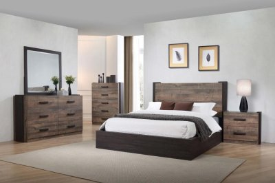 Weston Bedroom Set 5pc 206311 In Weathered Oak By Coaster