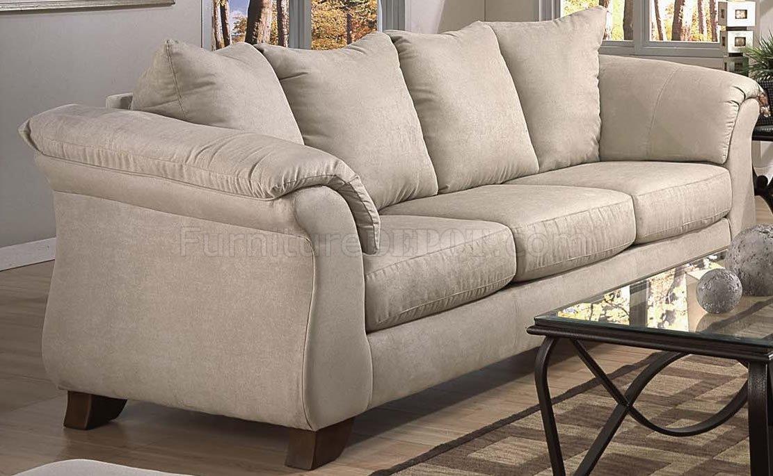 Stone Microfiber Modern Sofa Loveseat Set W Optional Items