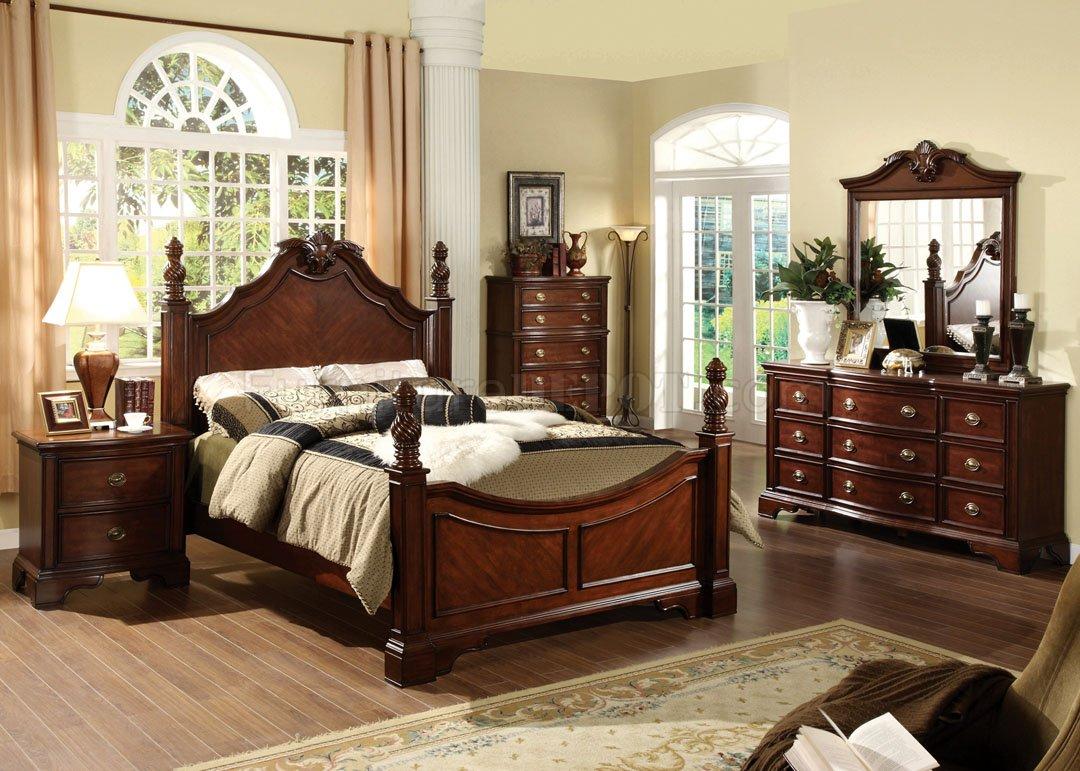 CM7310 Carlsbad Bedroom In Dark Cherry W/Optional Casegoods