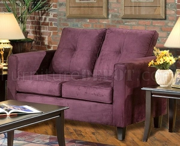 5900 Heather Sofa amp Loveseat Set in Eggplant Fabric by Chelsea : 800d652de7b1e306101469802641c97cimage600x489 from www.furnituredepot.com size 600 x 489 jpeg 57kB