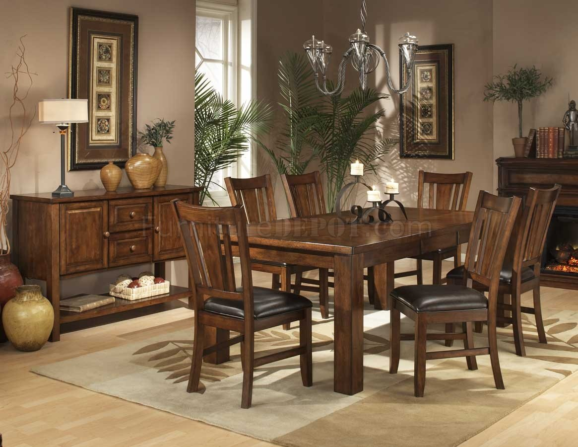 plain casual dining room table and chairs chocolate 5 pc counter