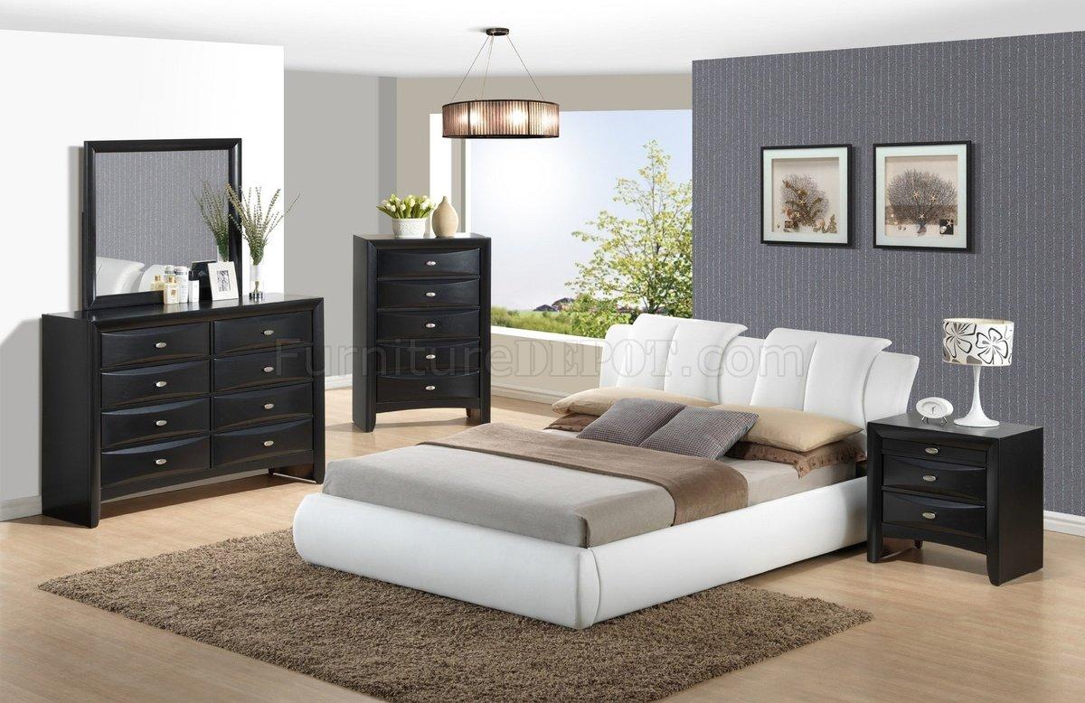 8269 wh linda black 5pc set bedroom by global w options