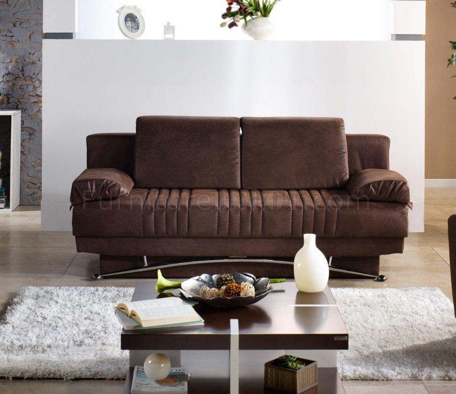 Fantasy Silverado Chocolate Sofa Bed Fabric By Istikbal