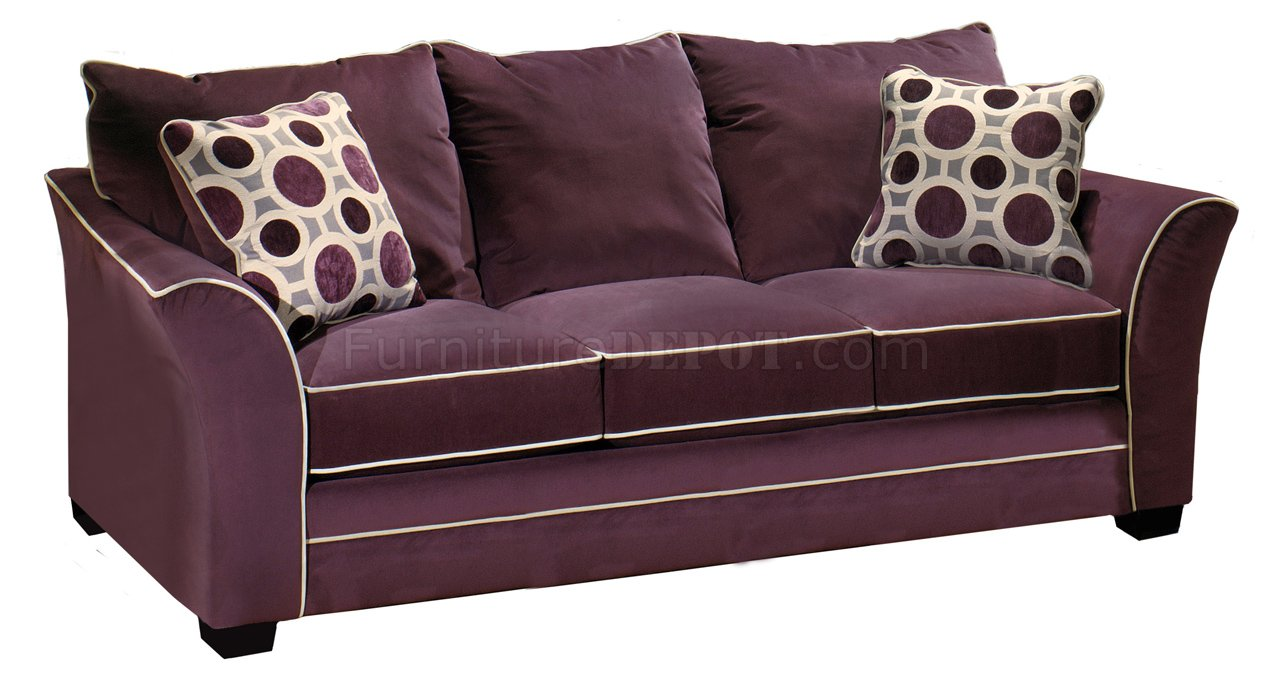 Eggplant Suede Fabric Modern Sofa amp Loveseat Set wOptions : 83308de2aa9aba8cba40d7e94fb0b023image1280x686 from modernfurnitureny.com size 1280 x 686 jpeg 109kB