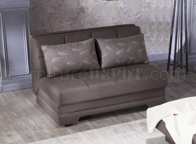 Twist Astoral Light Brown Loveseat Sleeper By Istikbal W