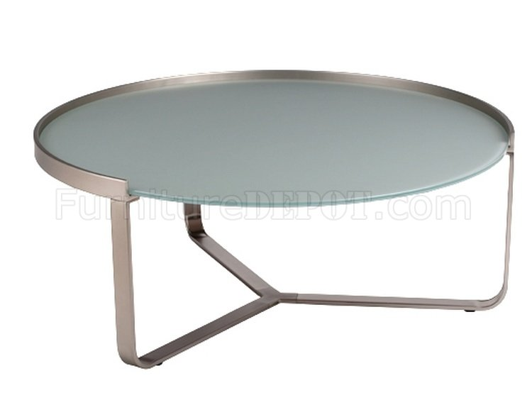 Clara Coffee Table W Frosted Glass Top By Whiteline