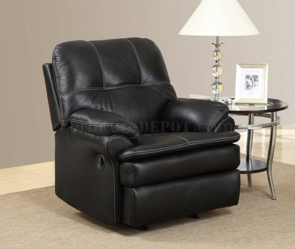 U1078 Motion Sofa Black Printed Fabric By Global Furniture Usa