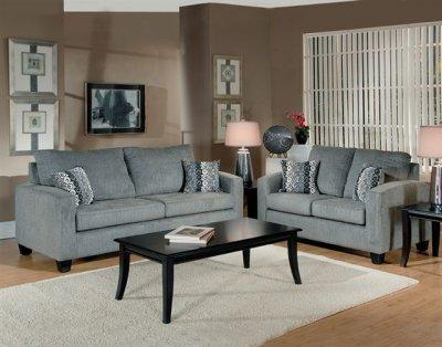 Sofa Sets  Living Room on Grey Fabric Modern Living Room Sofa   Loveseat Set