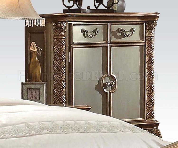 Vendome Bedroom In Gold Patina U0026 Bone By Acme W/Options