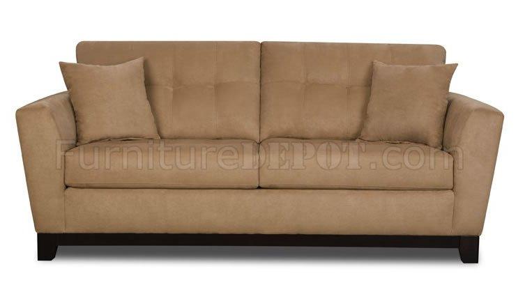 Latte Microfiber Modern Sofa Loveseat Set W Optional Items