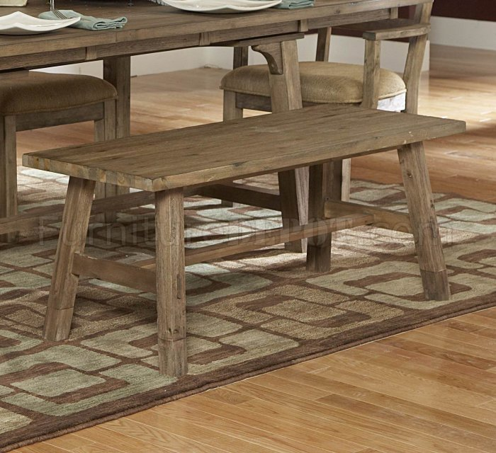 Weathered driftwood finish transitional dining table w options for Table options