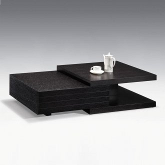Black Finish Modern Wood Coffee Table W Drawers Options