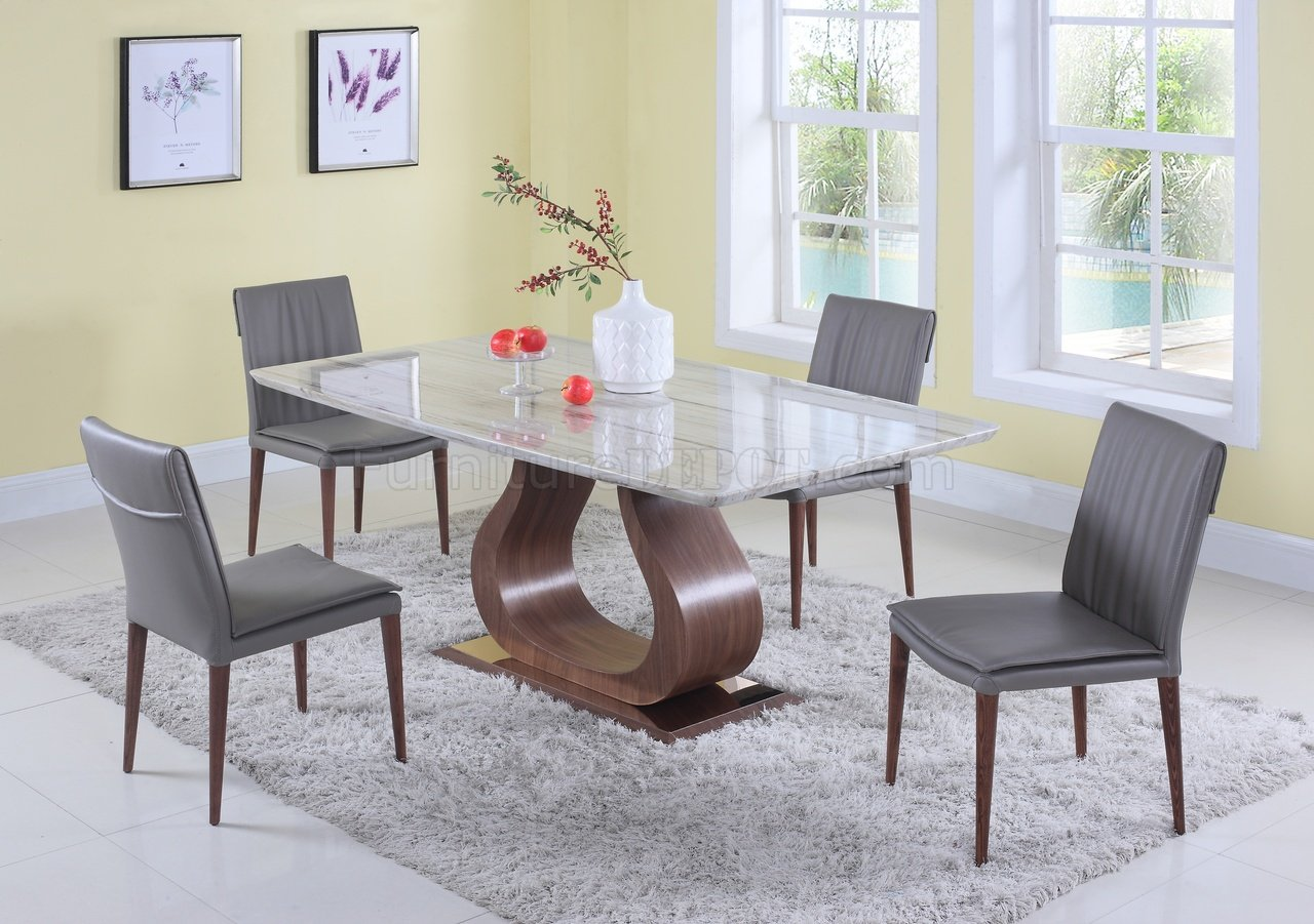 sage dining table 5pc set w solid marble top by chintaly. Black Bedroom Furniture Sets. Home Design Ideas