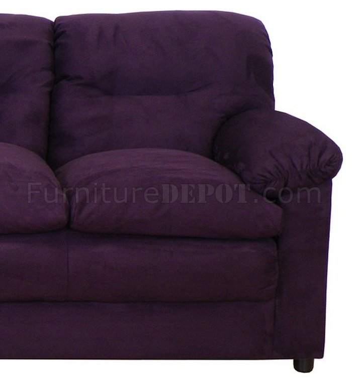 Great 6300 Lisa Sofa U0026 Loveseat Set In Bulldozer Eggplant By Chelsea