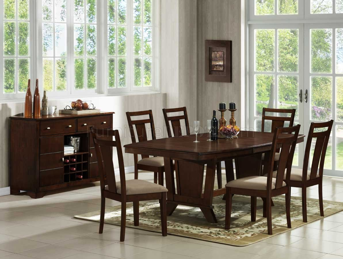 Dark Cherry Modern Dining Table W Optional Side Chairs Server Rh  Furnituredepot Com Black Cherry Dining Room Set Dark Cherry Dining Room  Table