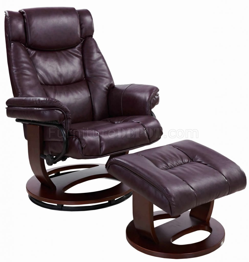 savuage bordeaux bonded leather modern recliner chair w