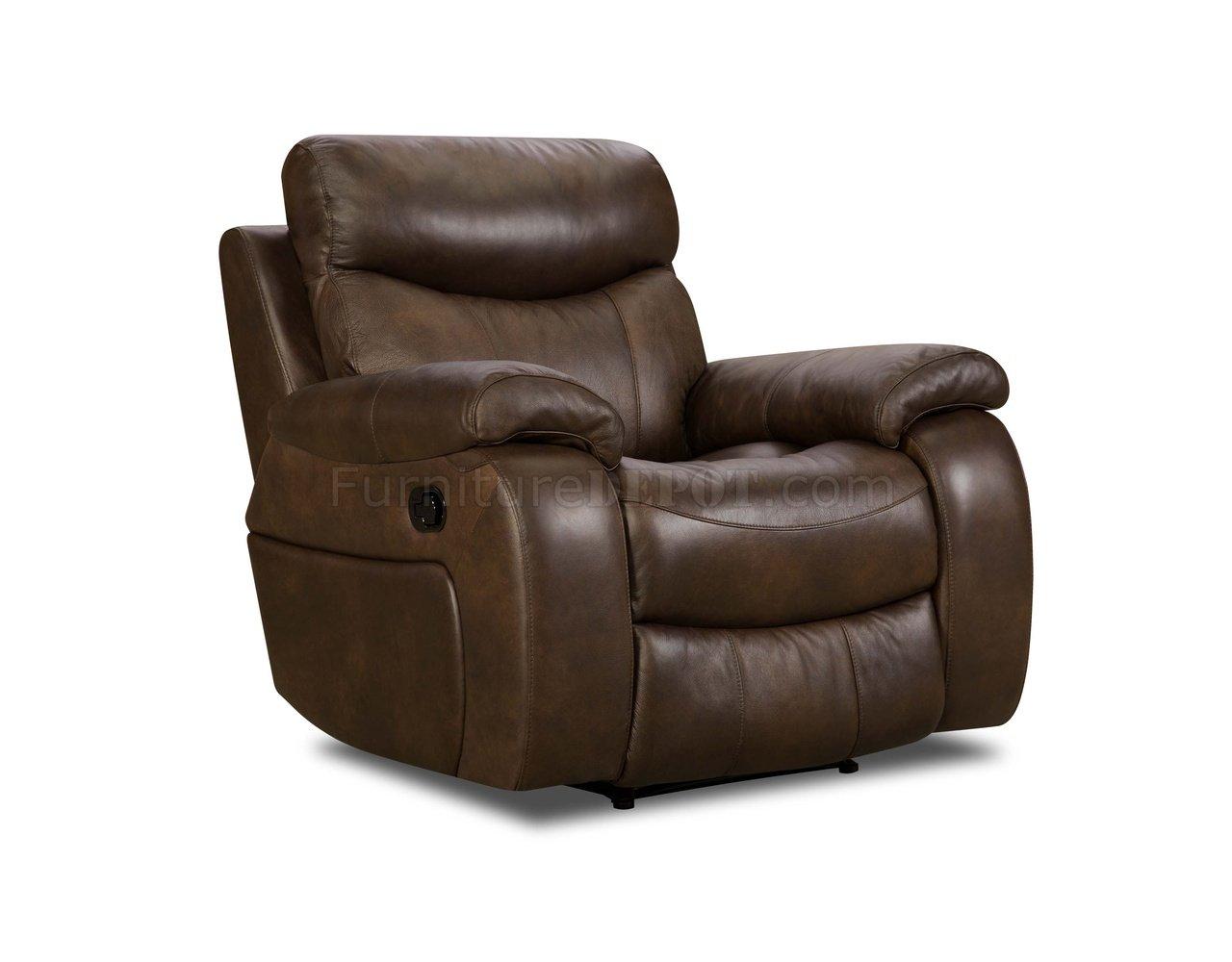 brown top grain premium leather modern reclining sofa w options