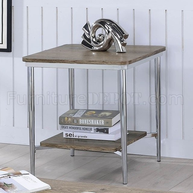 Cathleen Coffee & 2 End Table Set CM4150 In Chrome