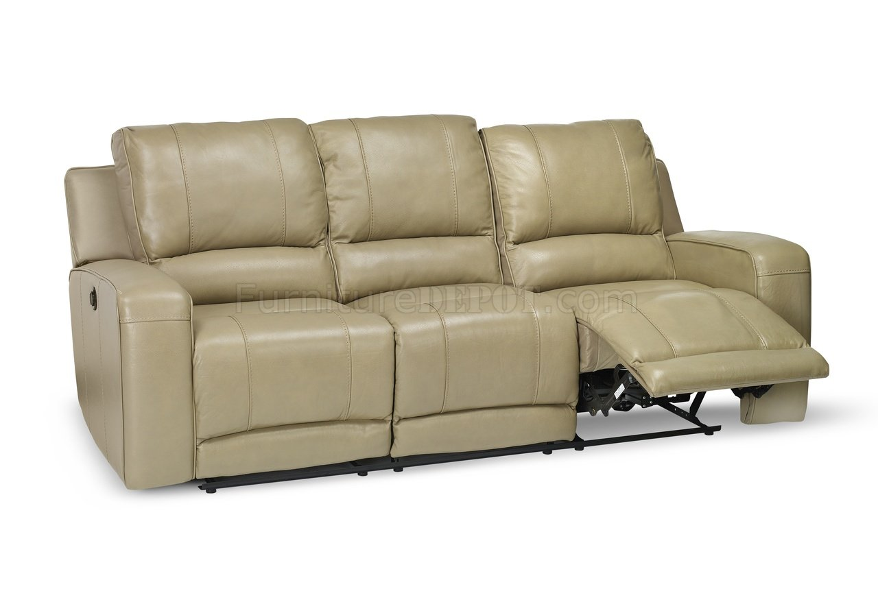 Terrence Power Reclining Sofa Loveseat In Leather Match