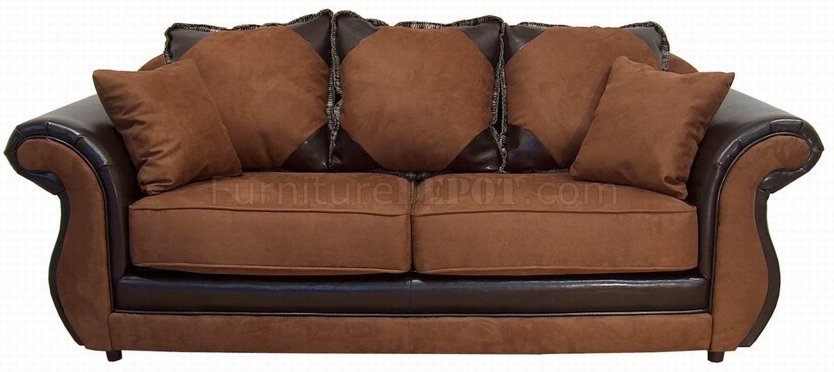 Cinnamon Fabric Modern Sofa Amp Loveseat Set W Options