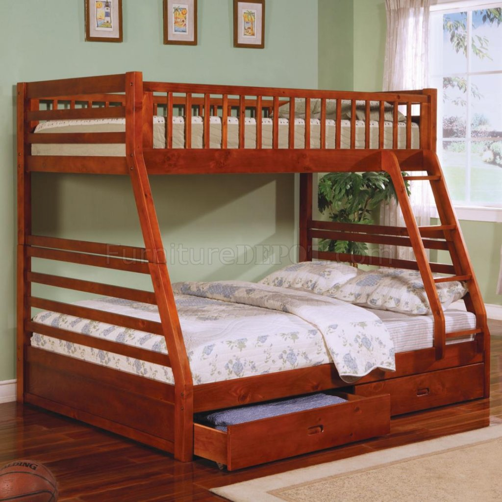 Ashton 460183 Bunk Bed in Honey Oak by Coaster CRKB 460183 Ashton