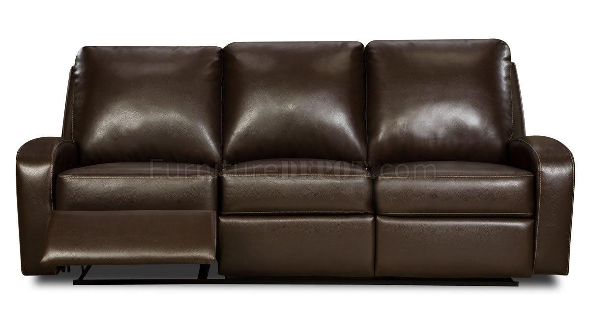 Mahogany Bonded Leather Double Reclining Sofa Amp Loveseat Set