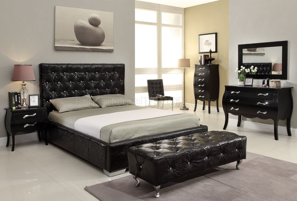 Michelle Black Bedroom W Storage Bed Optional Items