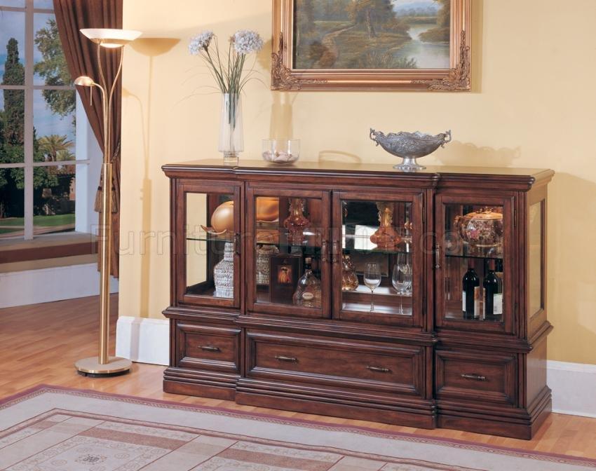 Antique Style Brown Classic Grand Manor Stratford Credenza