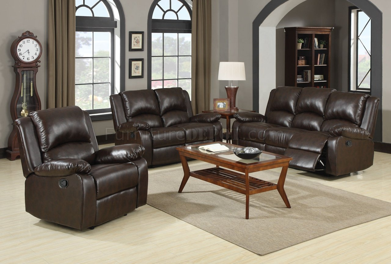 Boston Motion Sofa 600971 In Brown By Coaster W Options