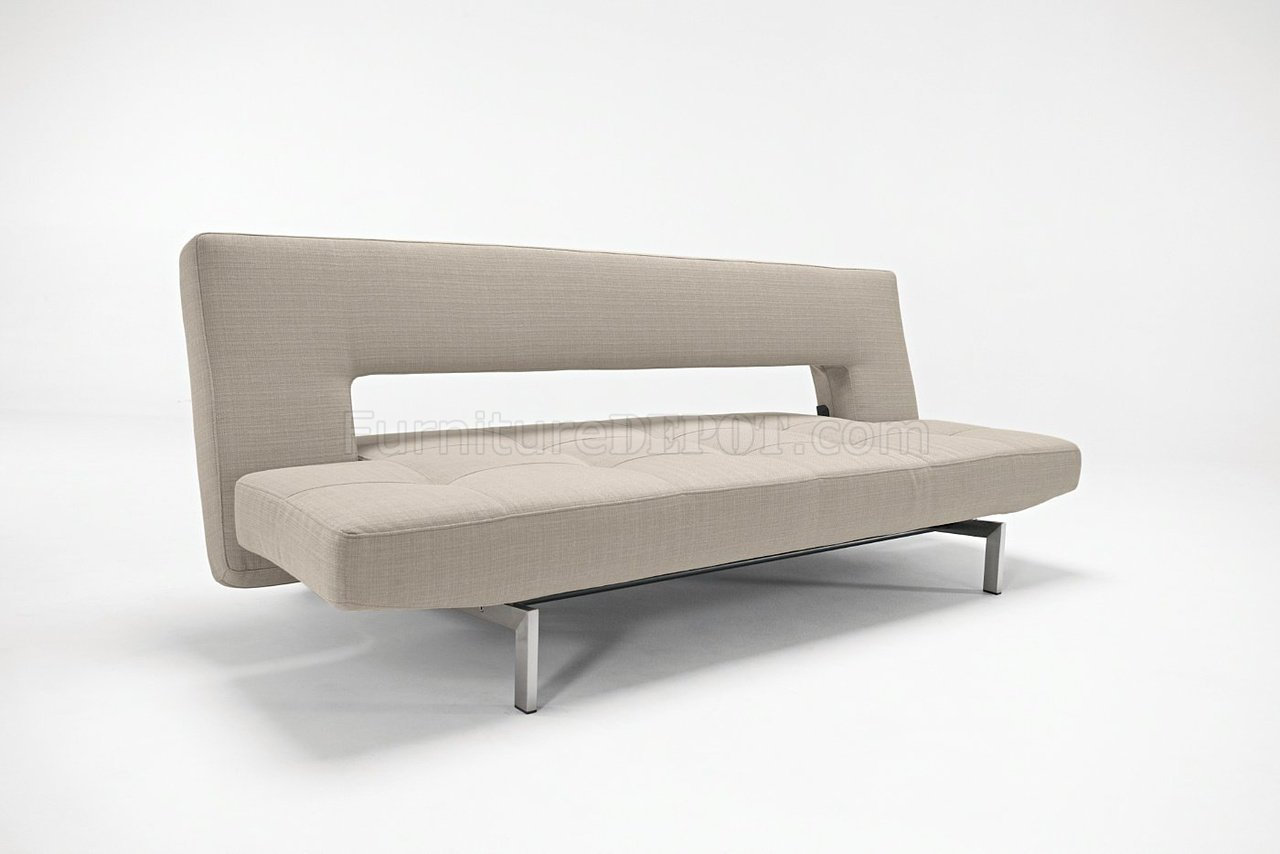 grey fabric contemporary sofa bed convertible from innovation -