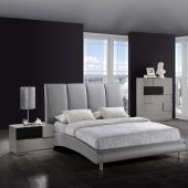 8272-Bianca Bedroom by Global w/Grey Upholstered Bed & Options