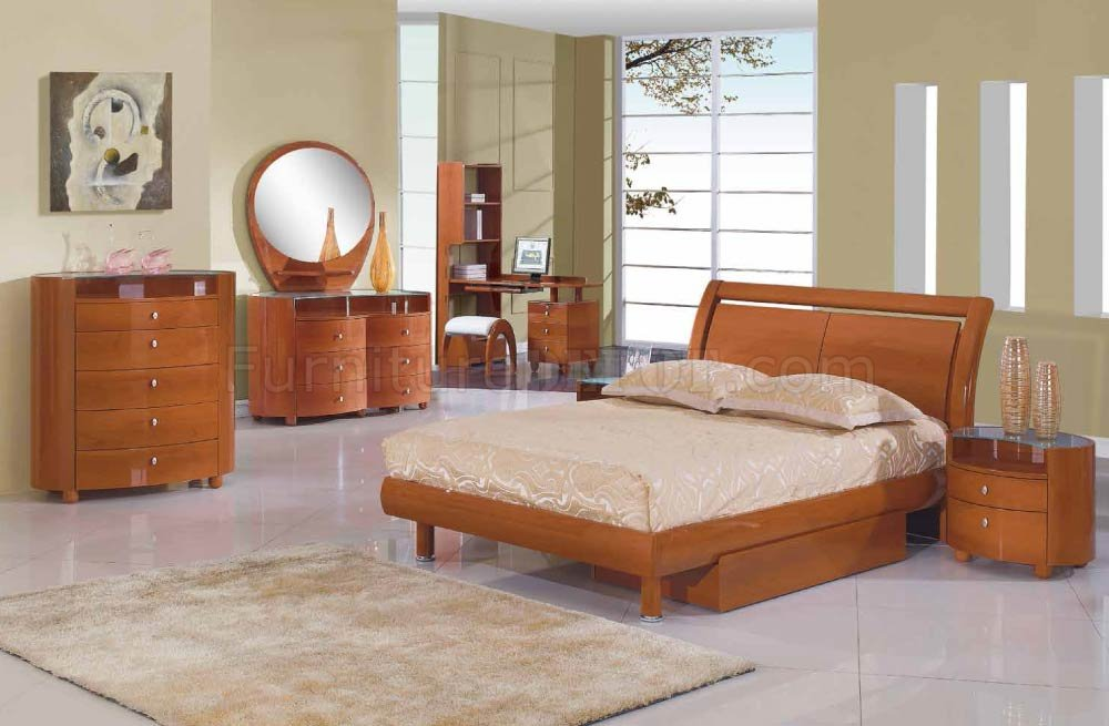 emily bedroom set.  Emily Kid s Bedroom in Cherry High Gloss by Global w Options